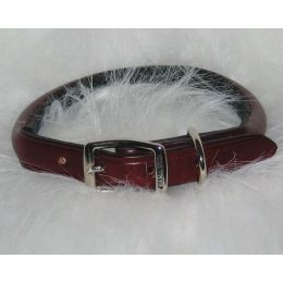 Hamilton Burgundy Rolled Leather Collar 3/4 X 20 In