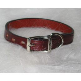 Hamilton Burgundy Creased Leather Collar 3/4 X 20 In