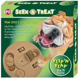Ethical Brown Seek-a-treat Flip-n-flap Dog Toy 10 In