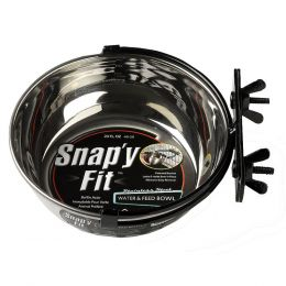Midwest Homes For Pets Stainless Steel Snapy Fit Dog Bowl 20 Ounce