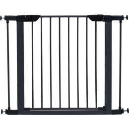 Midwest Homes For Pets Graphite Steel Glow Stripe Pet Gate 29h X 29-38w