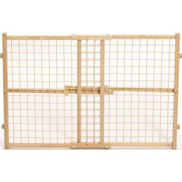 Midwest Homes For Pets Natural Wood/wire Mesh Pet Gate 24h X 29-41.5