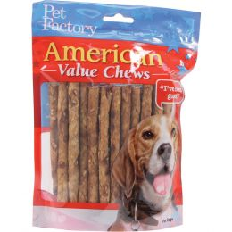 Pet Factory Chicken American Beefhide Munchy Mini Rolls Value Pack 5 Inch/40 Pack