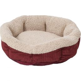 Petmate Spice/creme Aspen Pet Self Warming Pet Bed 19 Inch Round