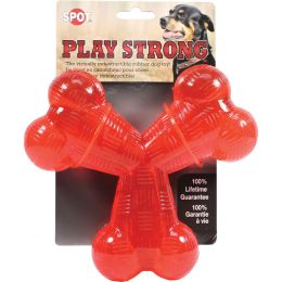 Ethical Red Play Strong Rubber Trident Dog Toy 6 In