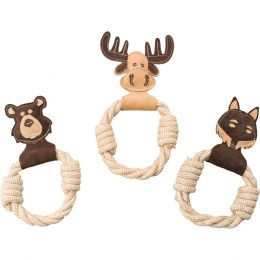 Ethical Brown Dura-fused Leather Animal Rings Dog Toy 11 In